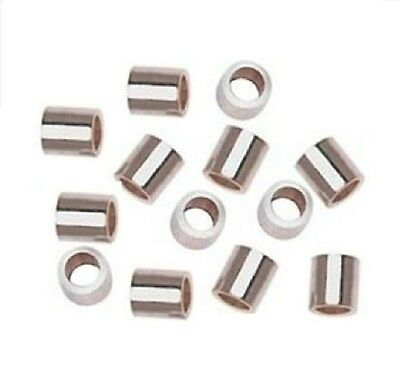 2 X 3 MM STERLING SILVER CRIMP BEADS  Pkg. Of 50 (Genuine .925 Silver) 1113AS
