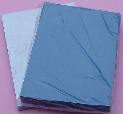 200micron PVC Cover+270gsm Leather Grain Cardboard A4 Set of 100 - Blue
