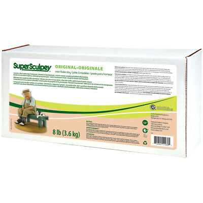 Super Sculpey ORIGINAL- HUGE 8lb (3.6kg) -  Beige - Oven Bake Clay