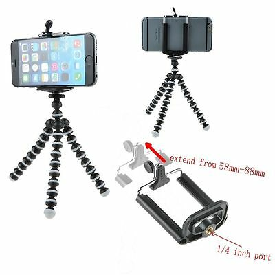 Mini Octopus Flexible Tripod Stand for GoPro Camera  iPhone 6 Samsung Cell Phone