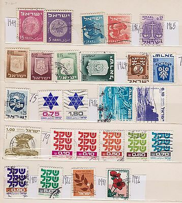 (WC66) 1945-1992 Israel mix approx 26stamps mint &F/U