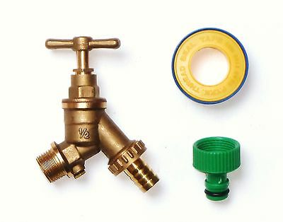 Double Check Valve Outside Tap With Garden Hose Fitting & PTFE tape
