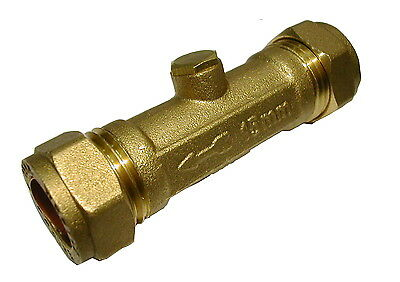 15mm Double Check Valve | Brass 15mm Compression Non Return Valve DCV