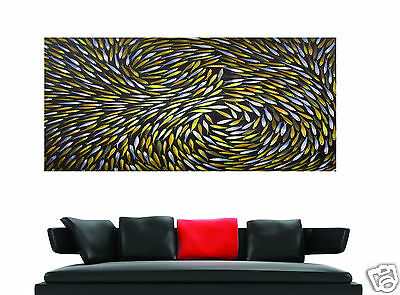 Abstract Art Painting Fish dreaming  contemporary CANVAS AUSTRALIAN LARGE