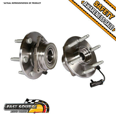 2 NEW Front Left & Right Chevy GMC Truck Wheel Hub and Bearing Assembly Pair 4X4