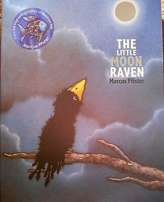 The Little Moon Raven by Marcus Pfister new hardcover book