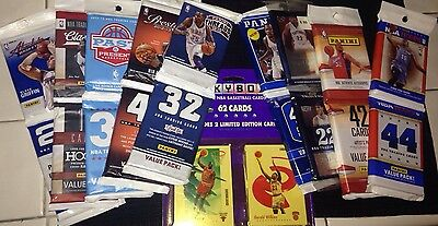 GREAT LOT OF OLD NEW UNOPENED BASKETBALL CARDS IN RACK VALUE PACKS AUTO? PATCH?