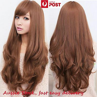 Womens Girls Long Curly Wavy Full hair wigs Cosplay Party Costume - 5 Colours