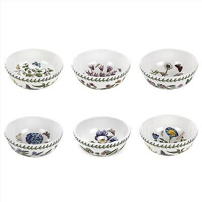 PORTMEIRION BOTANIC GARDEN INDIVIDUAL FRUIT/SALAD BOWLS, SET OF 6, NEW IN BOX!