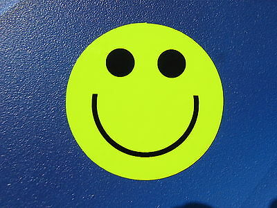 Back to School, Be Bright Be Safe Be Seen Yellow Hi Viz Smiley Faces 8 pack (42)