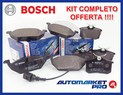 Kit 8 Pastiglie Freno Bosch Vw Golf 4 Iv 1.4 1.6 16V Ant + Post Benzina Pattini