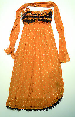 CULT VINTAGE '70 Abito Vestito Donna Can Can Woman Party Dress Sz.XS - 40