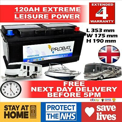 12V 120ah DEEP CYCLE LEISURE Battery, CARAVAN, MOTORHOME, BOAT Sealed for life