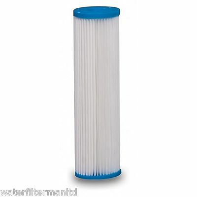 """10"""" Pleated water filter cartridge, Washable sediment filter High flow rate 10µm"""