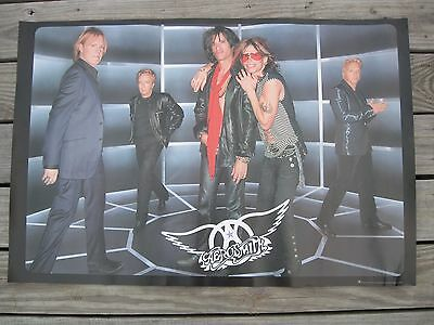 AEROSMITH 2001 just push play LARGE 2-SIDED FULL-COLOR PROMOTIONAL POSTER