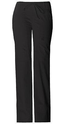 Cherokee Scrubs Women's Cargo Pants 21100 Black BLKV Cherokee Luxe Jr. Fit