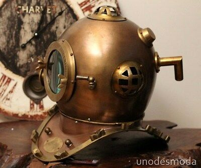 DEEP SEA DIVING HELMET FULL SIZE REPLICA vintage rustic Gift Present RRP $1499