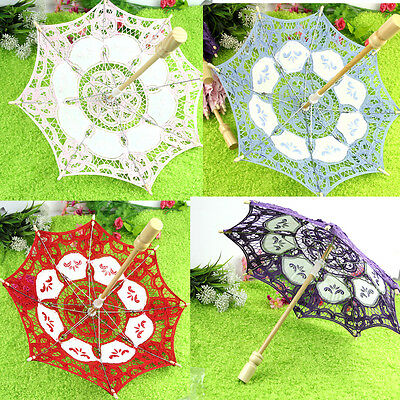 Party Decoration Lace Parasol Embroider Umbrella Wedding Bridal Decorate 15/19cm