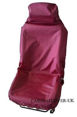 Audi A3 Cabriolet  - Burgundy Waterproof Front Seat Cover - Single