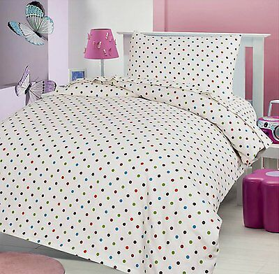 Love2Sleep FLANNELETTE FITTED SHEET FOR COT AND COT BED - POLKA DOT