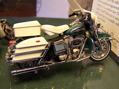 2 FRANKLIN MINT 1972  ELECTRA-GLIDE HARLEY DAVIDSONS B11WC24 WITH BOX AND PAPERS