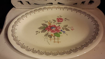 Edwin M Knowles China 39-5 semi vitreous 22 Karet Gold Platter