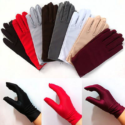 New Lady Girl Short Gloves Wedding Prom Evening Party Costume Dance Wrist Gloves