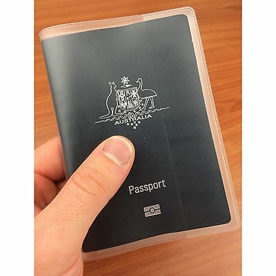 Matte Transparent Passport Cover Protector Travel Clear Holder Organiser Wallet