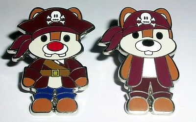 CHIP & DALE Pirates of the Caribbean Cute Character Cuties Disney Pin AUTHENTIC