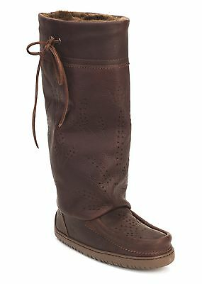 Authentic Manitobah Tall Gatherer Leather Mukluk, Cocoa