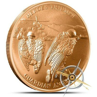 Love Your Veterans Guardian Angels 1 oz .999 Copper Round USA Made Bullion Coin