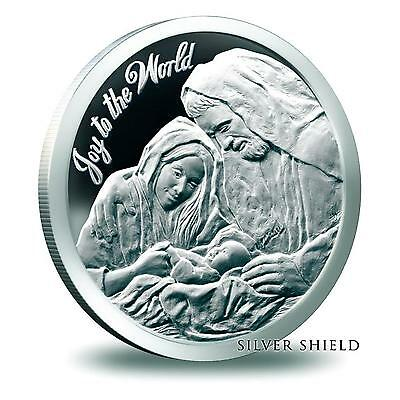 2014 Silver Shield Joy To The World 1 oz Silver Proof-Like Round USA Jesus Coin