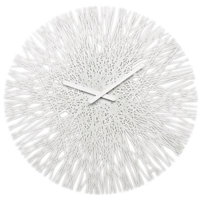 Koziol Silk Wall Clock Cristal-Controlled Timeless Design Solid White 2328525