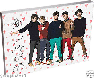 One Direction Autograph canvas art. Wall Hanging, see offers. Gloss Finish.