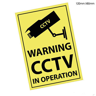 CCTV in Operation Warning Premises Security Window Stickers Signs (STKPN00073)