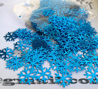 ❅Frozen Blue Snowflake❅Table Confetti Xmas❅Party Decorations❅Sprinkles Christmas