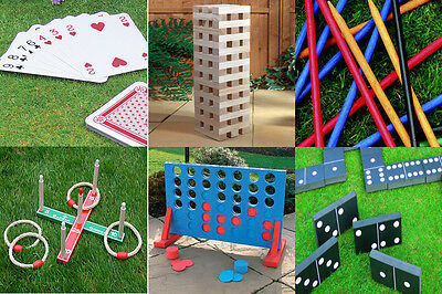 New Cheap Garden Lawn Bbq Party Games Including Giant Jenga + Connect 4 In A Row