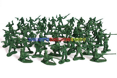 New Plastic Army Men 3cm Figures (50pcs) Military Set Toy Soldiers - Green Color
