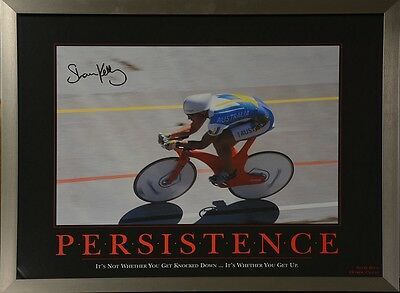 Shane Kelly Signed Persistence Inspirational Poster Framed