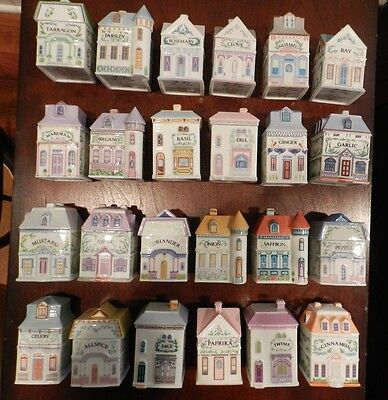 The Complete Set of 24 Lenox Spice Village Victorian Houses MINT!!!!!!!!!!!!!