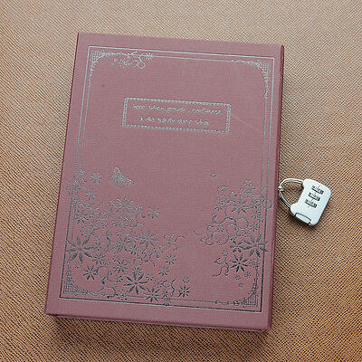 Quality Vintage Antique Secret Diary Journal Notebook Sketchbook with Lock Code