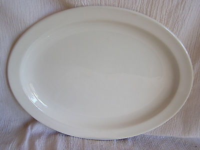Stonehenge Midwinter White Made England Large Oval Serving Platter Dish Plate