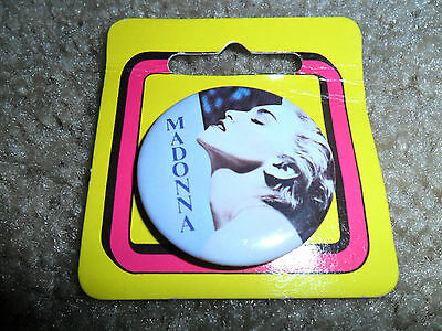 "Vintage 1986 Madonna ""True Blue"" 1.5 inch button"