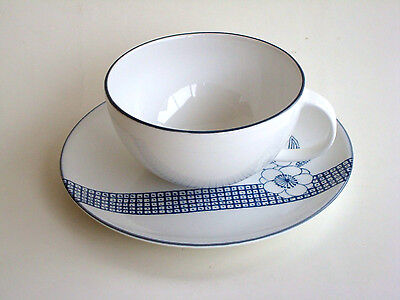 CALVIN KLEIN Bayard 1 CUP SAUCER White Blue Floral Fine China NEW