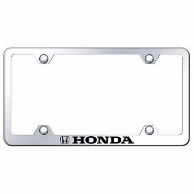 Honda Chrome License Plate Frame Laser Etched Genuine Civic Accord CRV Pilot