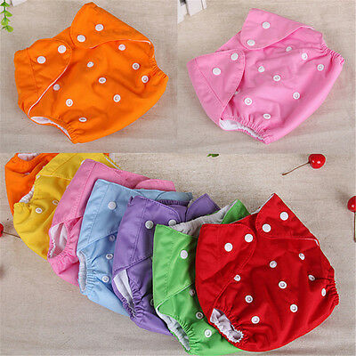 Reusable Washable Baby Newborn Infant Cloth Diaper Nappies Size Adjustable New