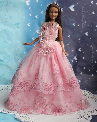 Lovely children Christmas gift original clothes dress for barbies doll a1610