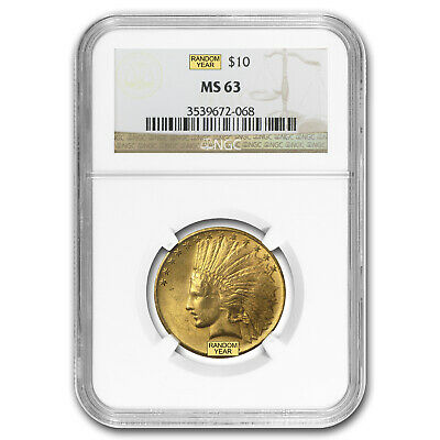 $10 Indian Gold Eagle MS-63 NGC (Random) - SKU #23201