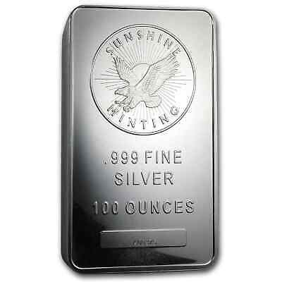 100 oz Silver Bar - Sunshine (MintMark SI) - SKU #77282