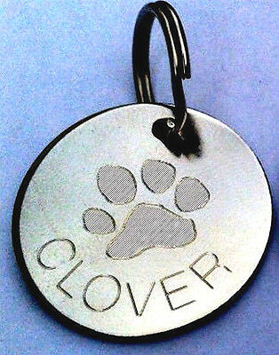 Engraved Pet Tags ID Collar Tag Cat Dog Puppy Paw Heart Star Flower Bone